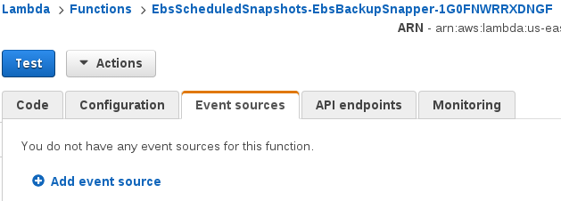 Add event-source button in event tab