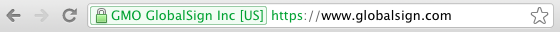 Site with EV SSL certificate in Chrome