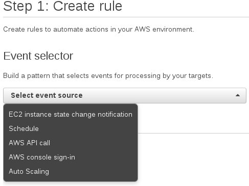Scheduling Events with the CloudWatch Event Console -- Serverless Code